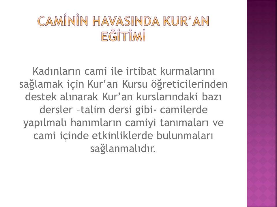 CAMİNİN HAVASINDA KUR'AN EĞİTİMİ