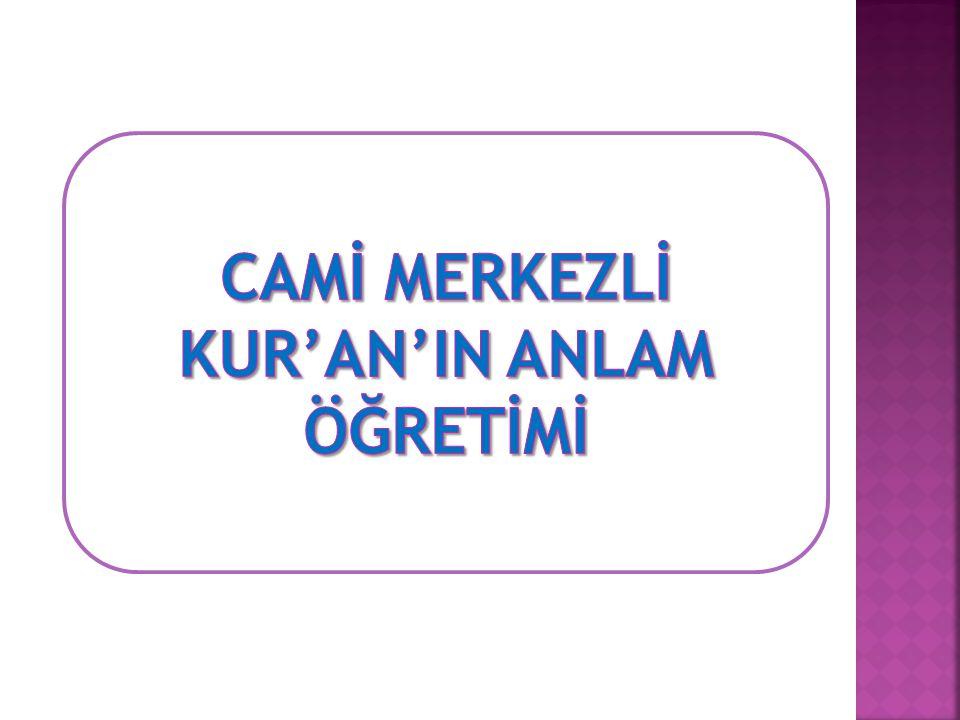 KUR'AN'IN ANLAM ÖĞRETİMİ