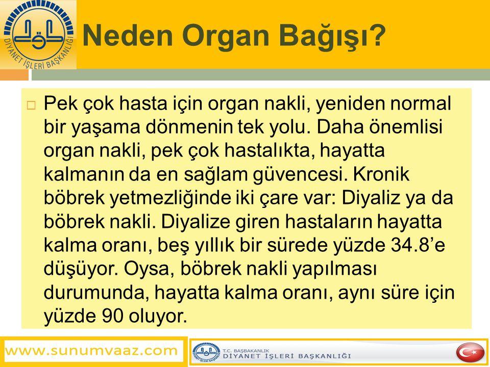Neden Organ Bağışı