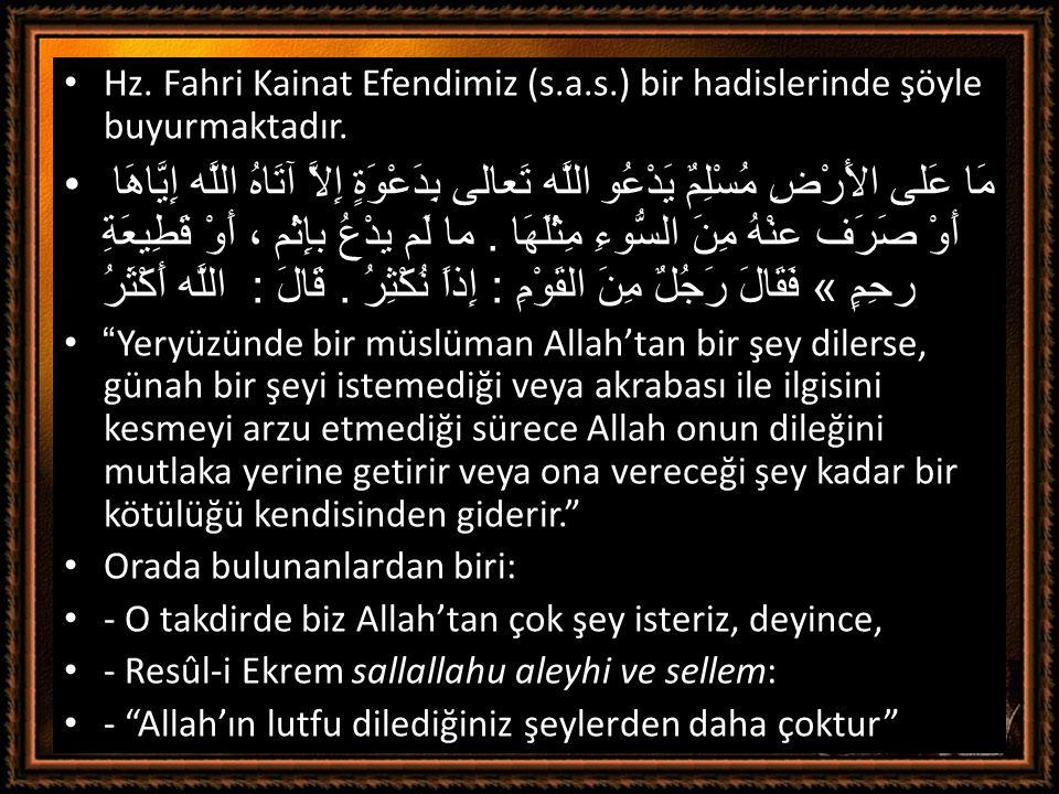 Hz. Fahri Kainat Efendimiz (s. a. s