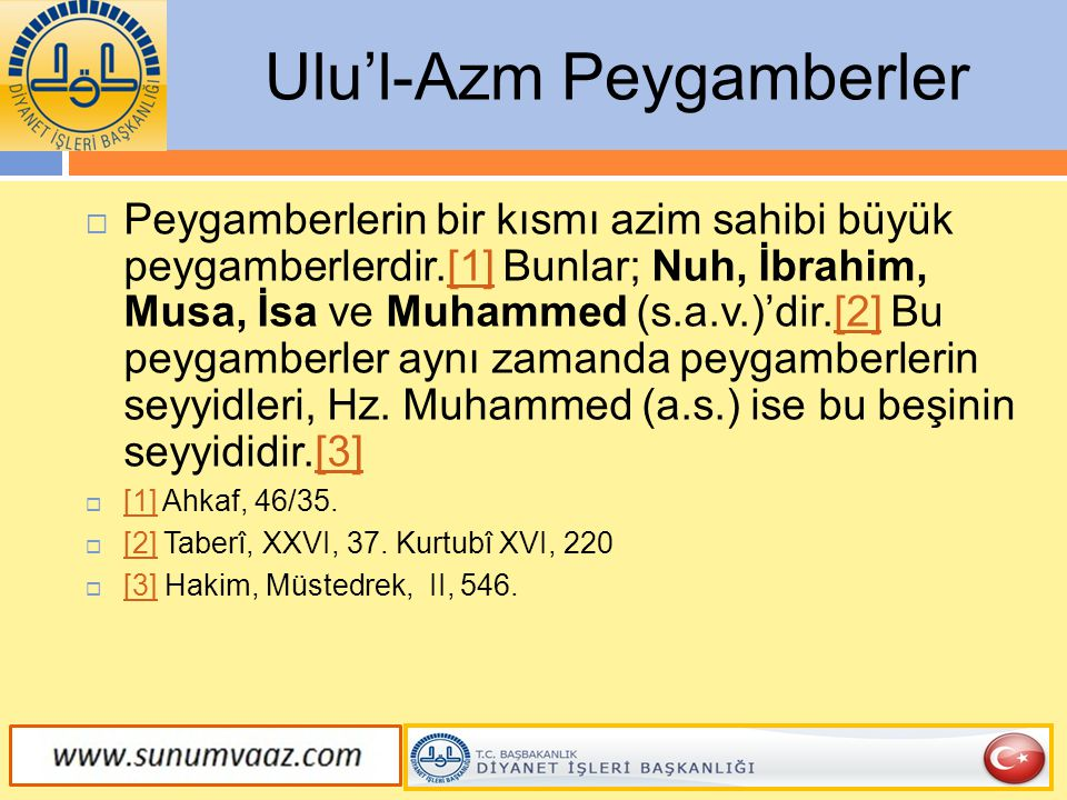 Ulu'l-Azm Peygamberler