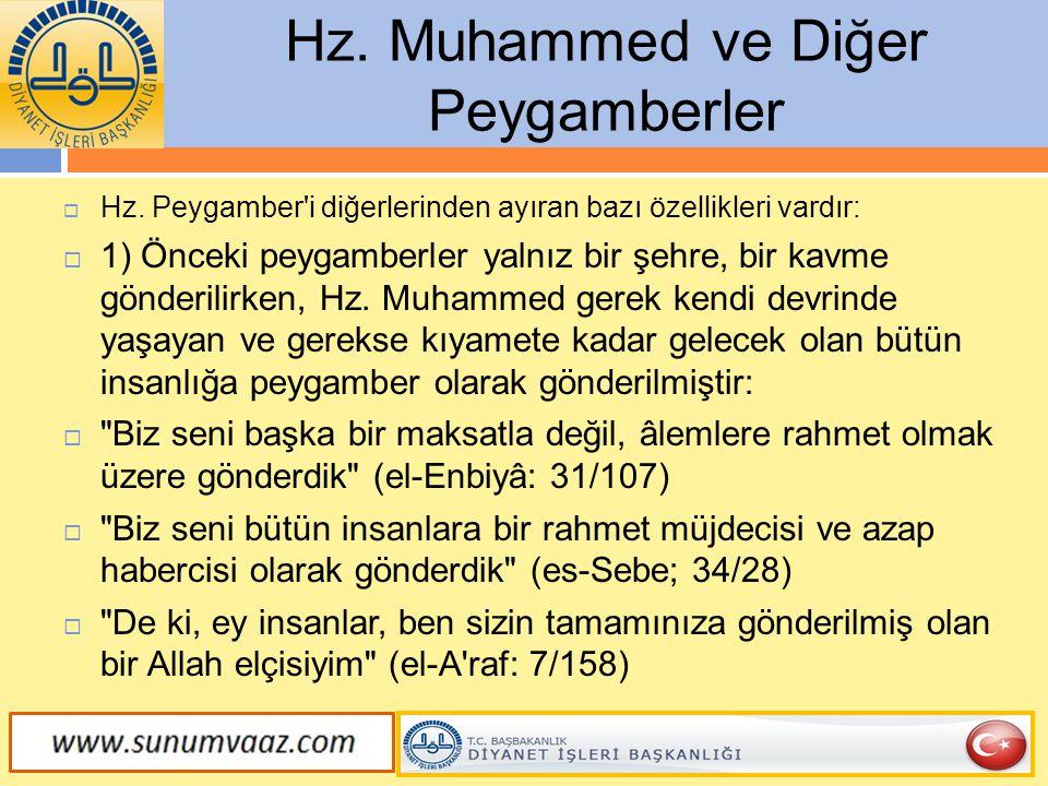 Hz. Muhammed ve Diğer Peygamberler