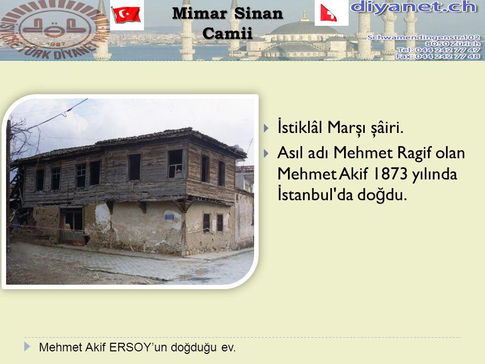 Asıl adı Mehmet Ragif olan Mehmet Akif 1873 yılında İstanbul da doğdu.