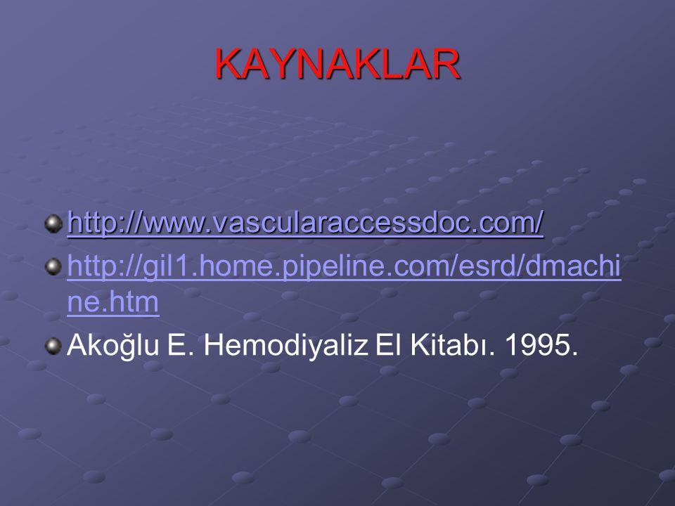 KAYNAKLAR http://www.vascularaccessdoc.com/