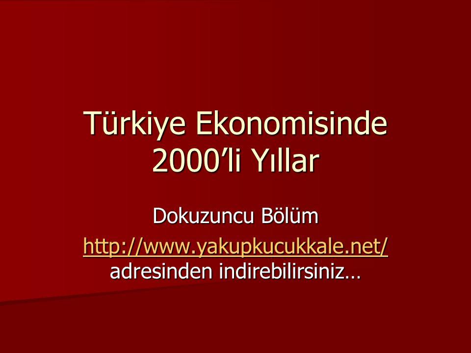 Türkiye Ekonomisinde 2000'li Yıllar