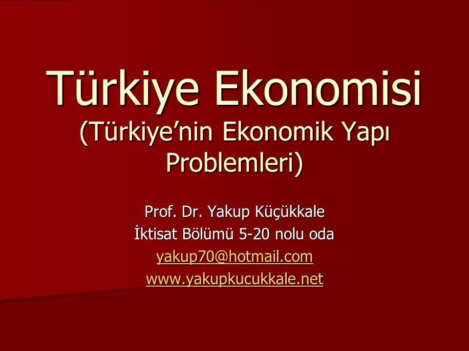 Türkiye Ekonomisi (Türkiye'nin Ekonomik Yapı Problemleri)