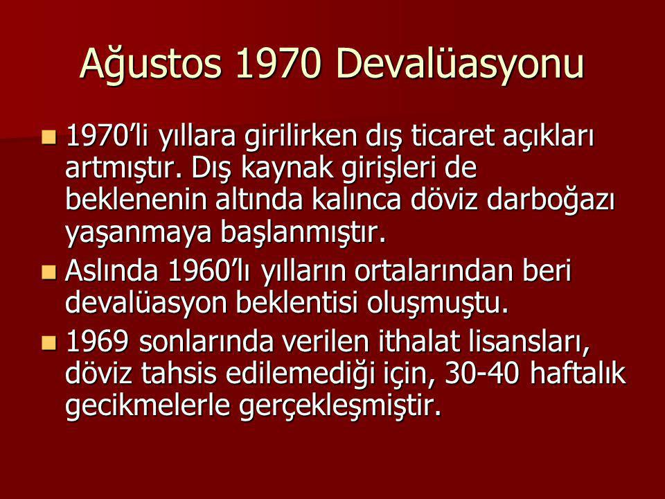 Ağustos 1970 Devalüasyonu
