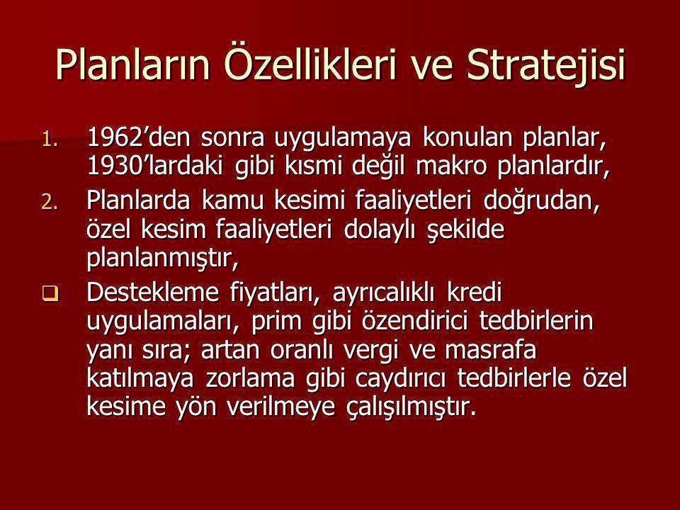 Planların Özellikleri ve Stratejisi