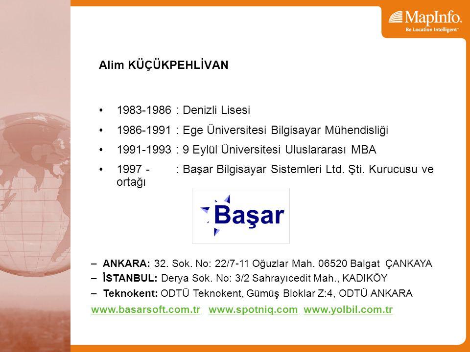 1986-1991 : Ege Üniversitesi Bilgisayar Mühendisliği