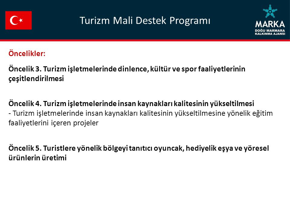 Turizm Mali Destek Programı