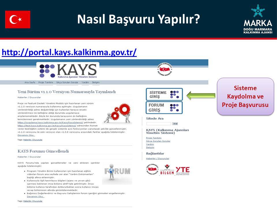 Sisteme Kaydolma ve Proje Başvurusu