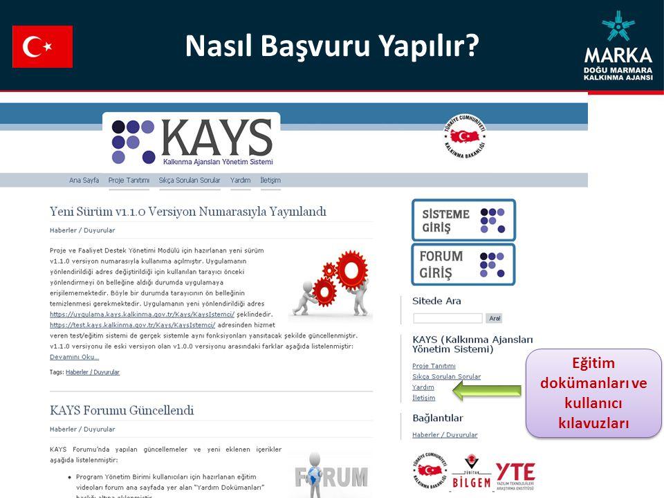 Eğitim dokümanları ve kullanıcı kılavuzları