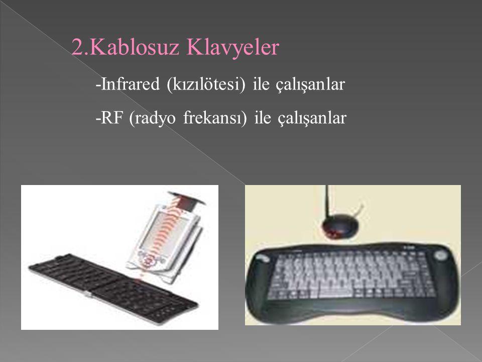 Kablosuz Klavyeler -Infrared (kızılötesi) ile çalışanlar