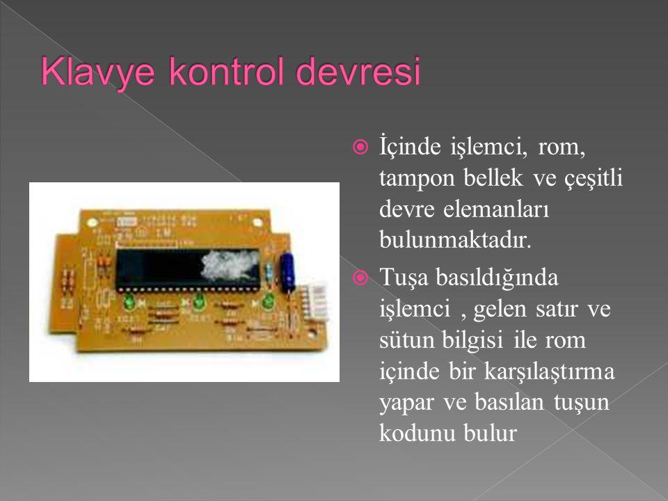 Klavye kontrol devresi