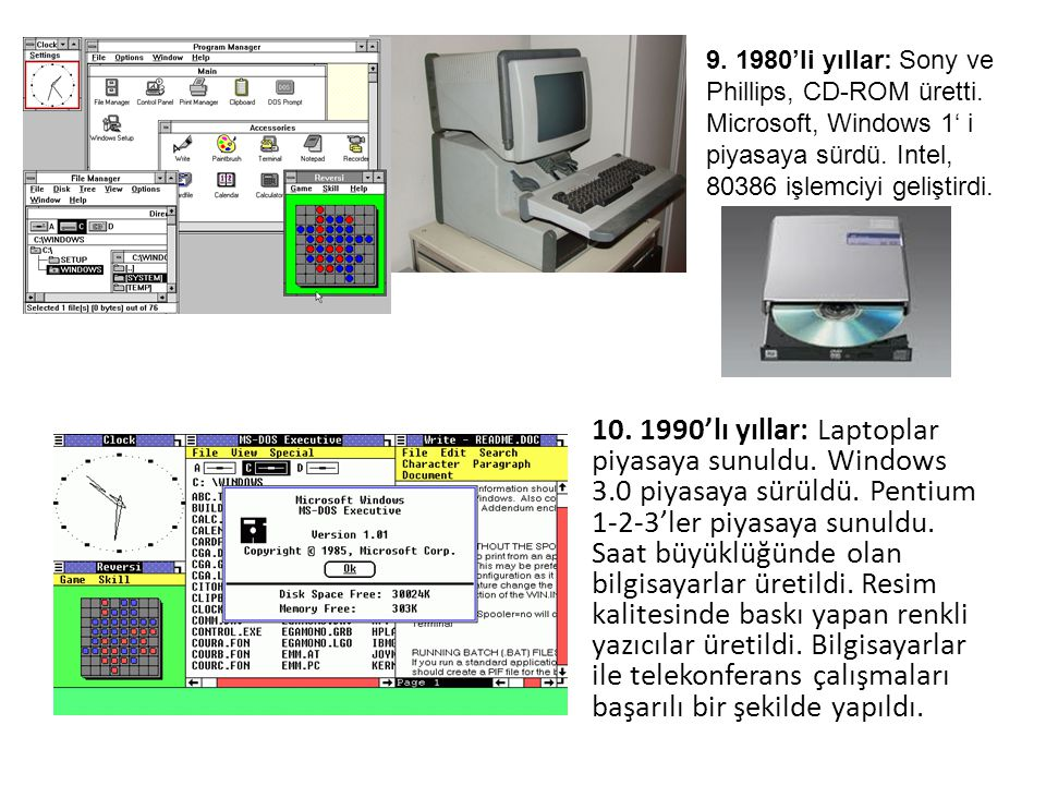9. 1980'li yıllar: Sony ve Phillips, CD-ROM üretti