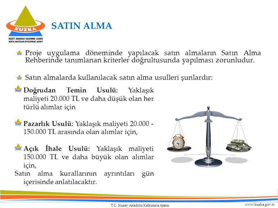 SATIN ALMA Proje uygulama döneminde yapılacak satın almaların Satın Alma Rehberinde tanımlanan kriterler doğrultusunda yapılması zorunludur.