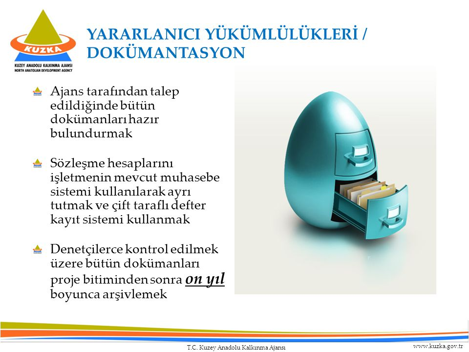 YARARLANICI YÜKÜMLÜLÜKLERİ / DOKÜMANTASYON
