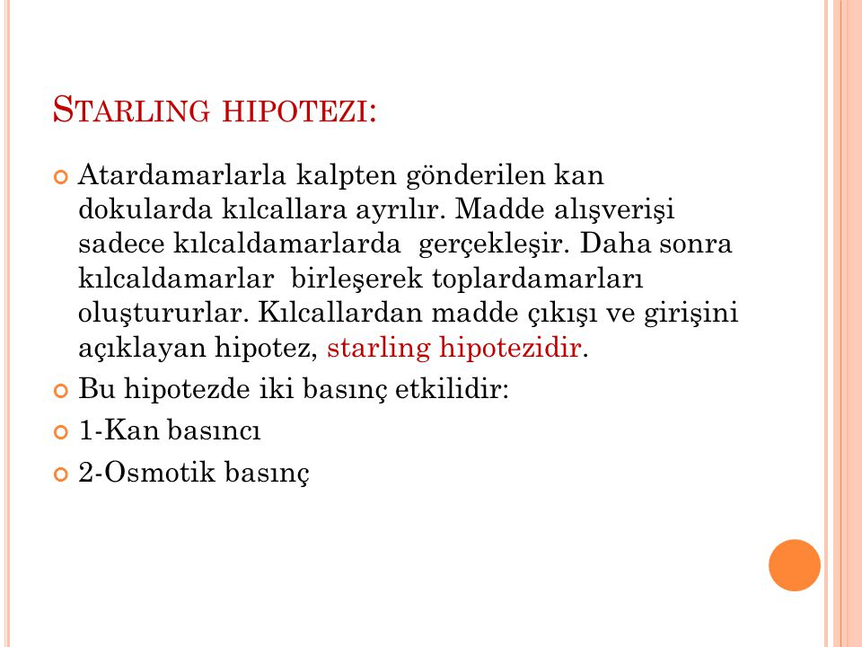 Starling hipotezi: