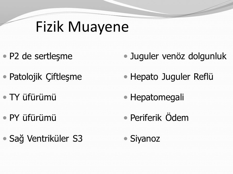 Fizik Muayene P2 de sertleşme Patolojik Çiftleşme TY üfürümü