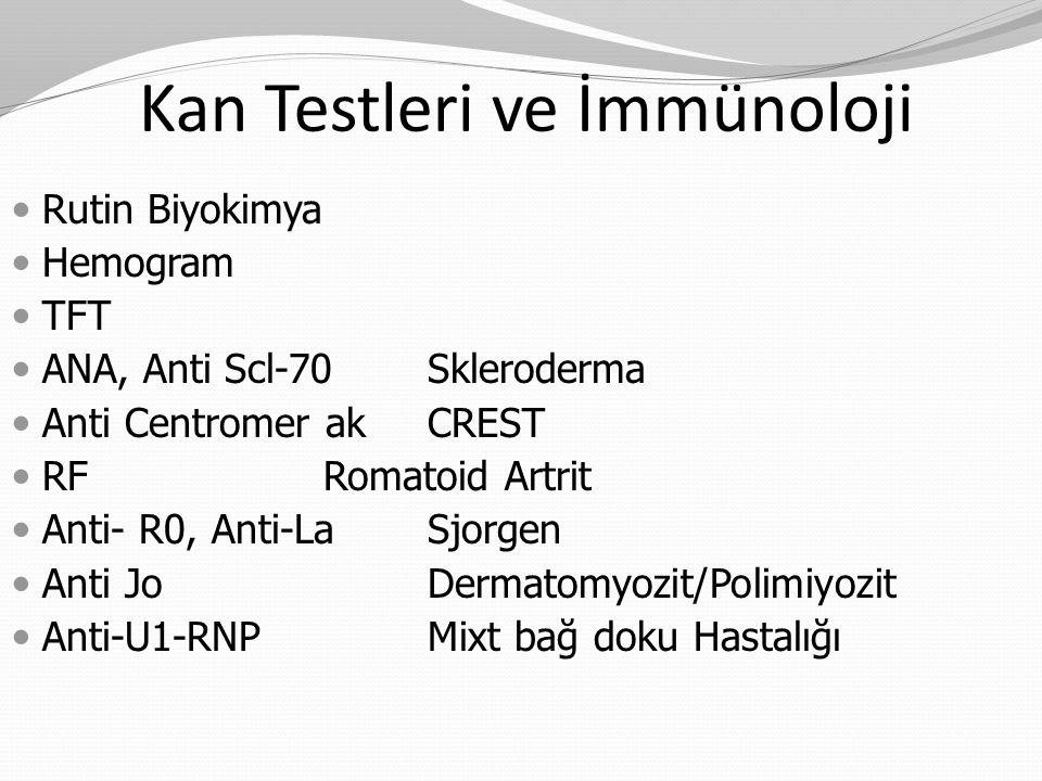 Kan Testleri ve İmmünoloji