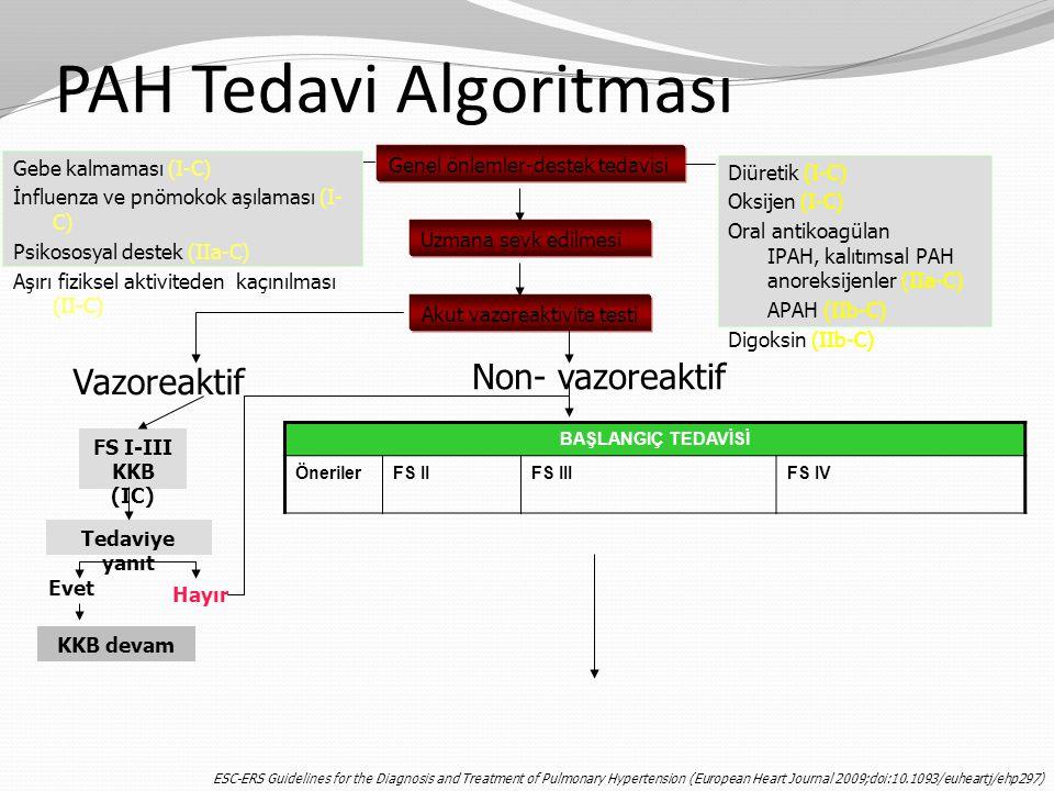 PAH Tedavi Algoritması