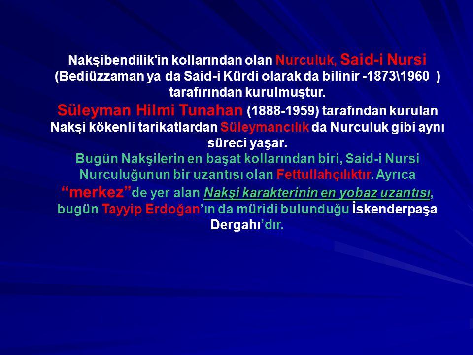 Nakşibendilik in kollarından olan Nurculuk, Said-i Nursi (Bediüzzaman ya da Said-i Kürdi olarak da bilinir -1873\1960 ) tarafırından kurulmuştur.