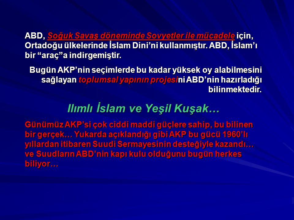 Ilımlı İslam ve Yeşil Kuşak…