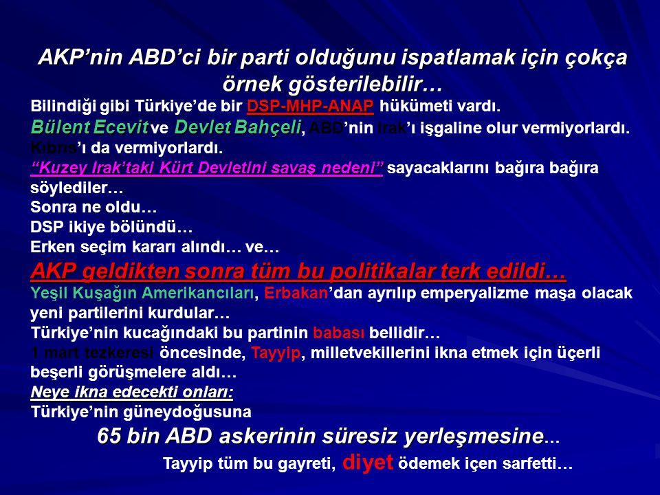 AKP geldikten sonra tüm bu politikalar terk edildi…