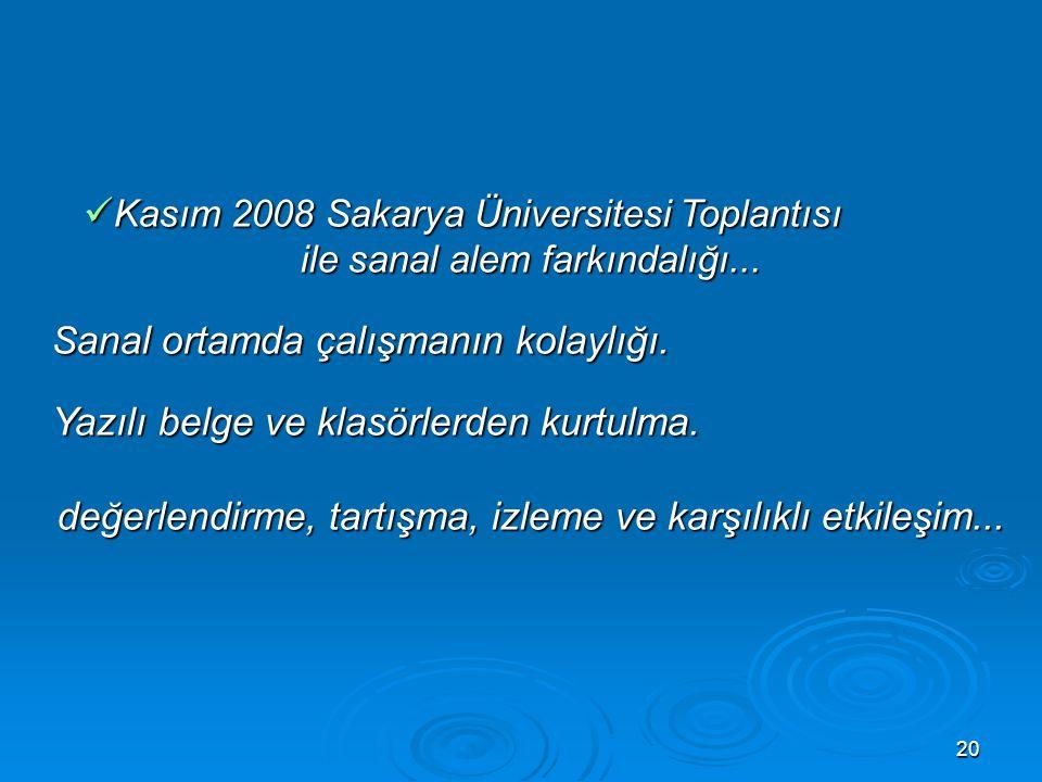 Kasım 2008 Sakarya Üniversitesi Toplantısı
