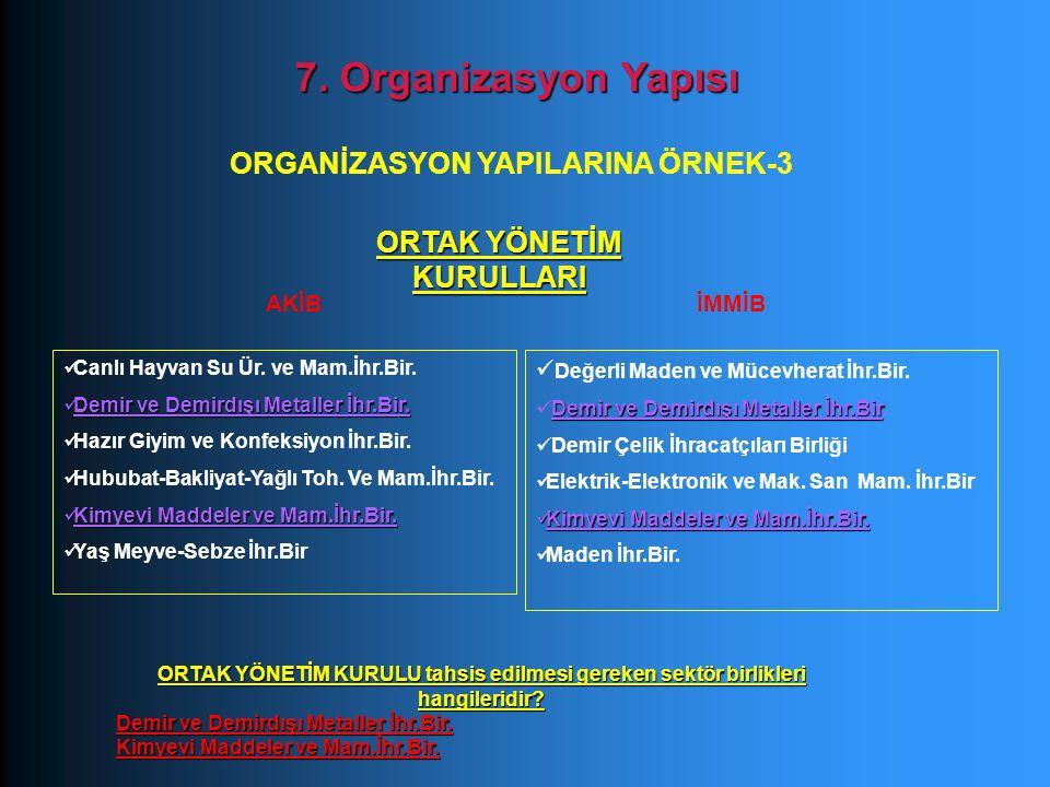 ORGANİZASYON YAPILARINA ÖRNEK-3 ORTAK YÖNETİM KURULLARI