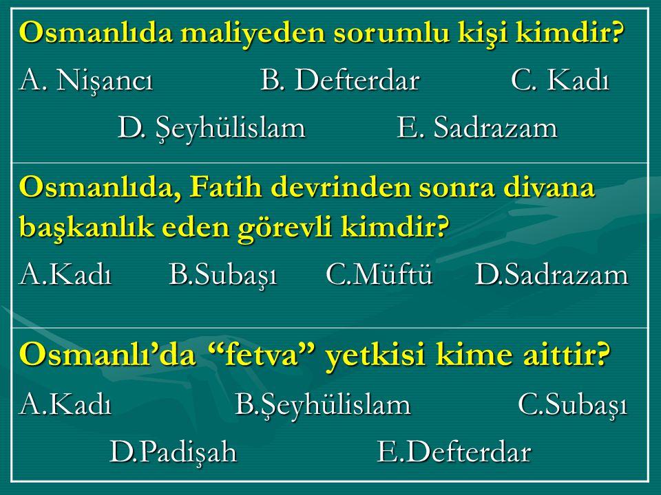 Osmanlı'da fetva yetkisi kime aittir