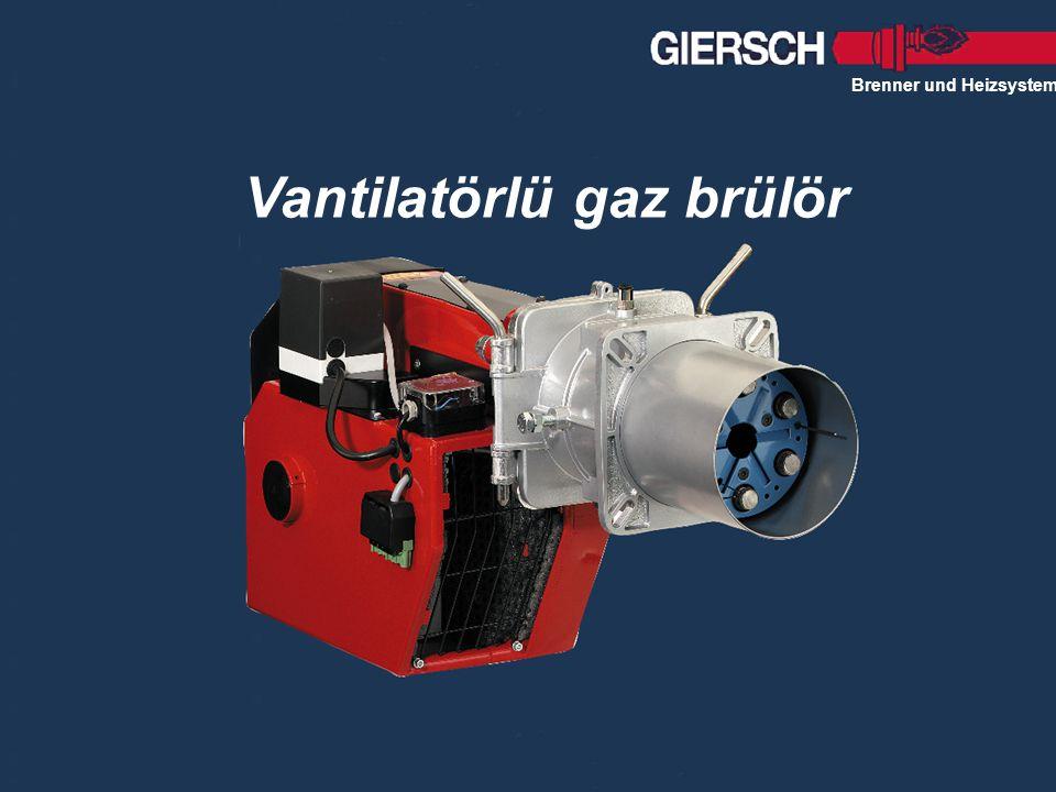 Vantilatörlü gaz brülör Brenner und Heizsysteme