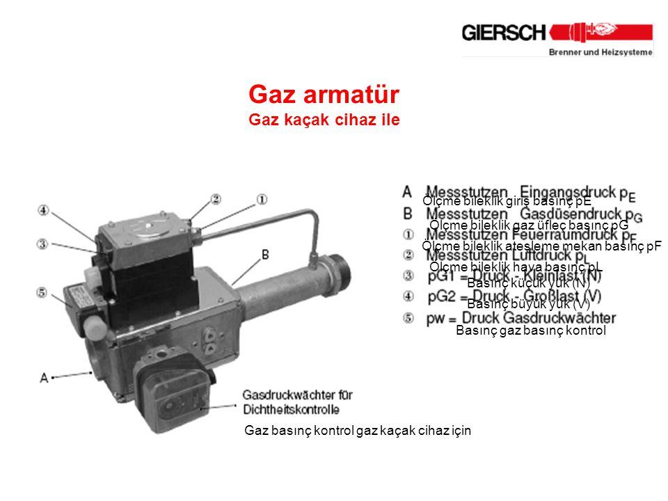 Gaz armatür Gaz kaçak cihaz ile Ölçme bileklik giriş basınç pE