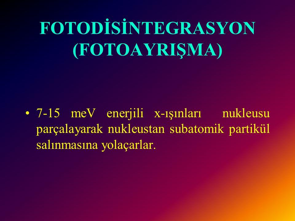 FOTODİSİNTEGRASYON (FOTOAYRIŞMA)