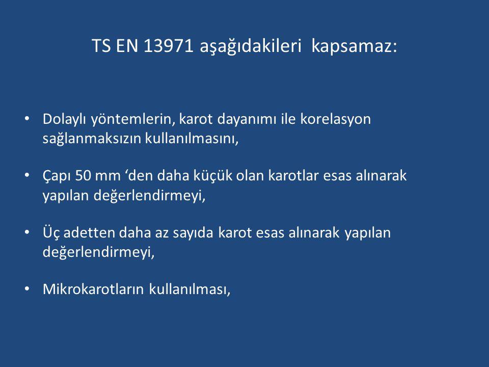 TS EN 13971 aşağıdakileri kapsamaz: