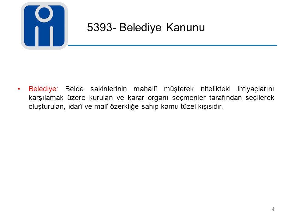 5393- Belediye Kanunu