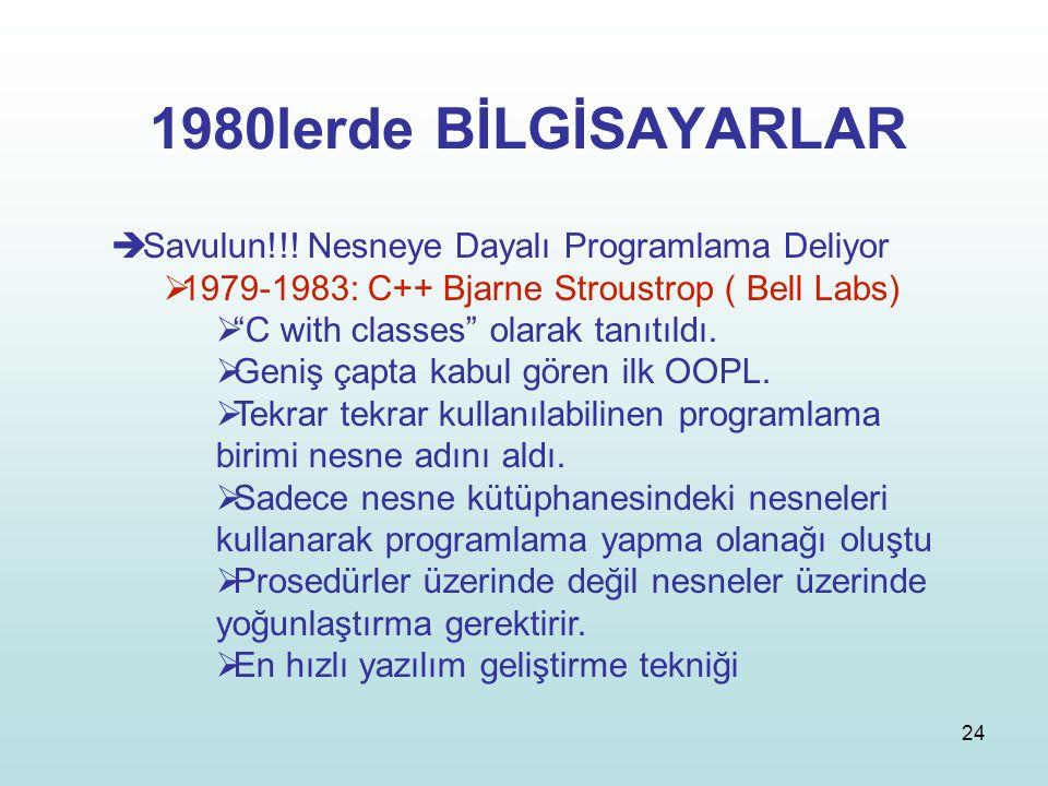 1980lerde BİLGİSAYARLAR Savulun!!! Nesneye Dayalı Programlama Deliyor