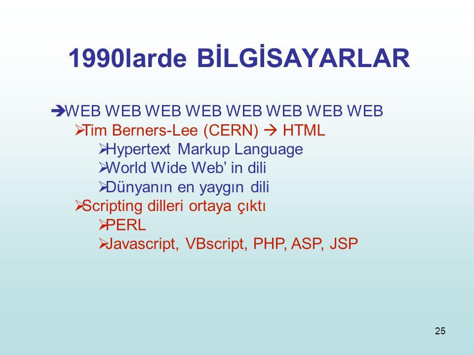 1990larde BİLGİSAYARLAR WEB WEB WEB WEB WEB WEB WEB WEB