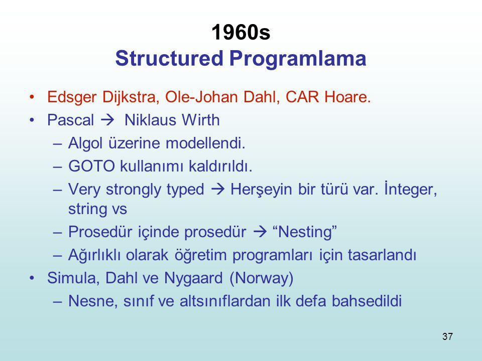 1960s Structured Programlama