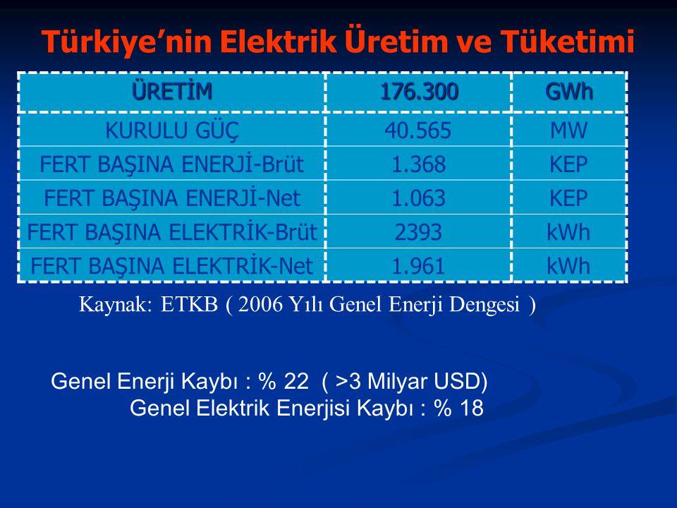 Türkiye'nin Elektrik Üretim ve Tüketimi