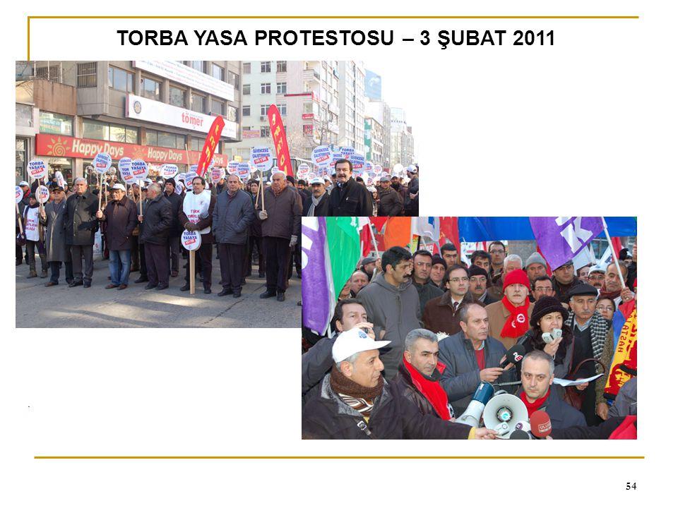 TORBA YASA PROTESTOSU – 3 ŞUBAT 2011