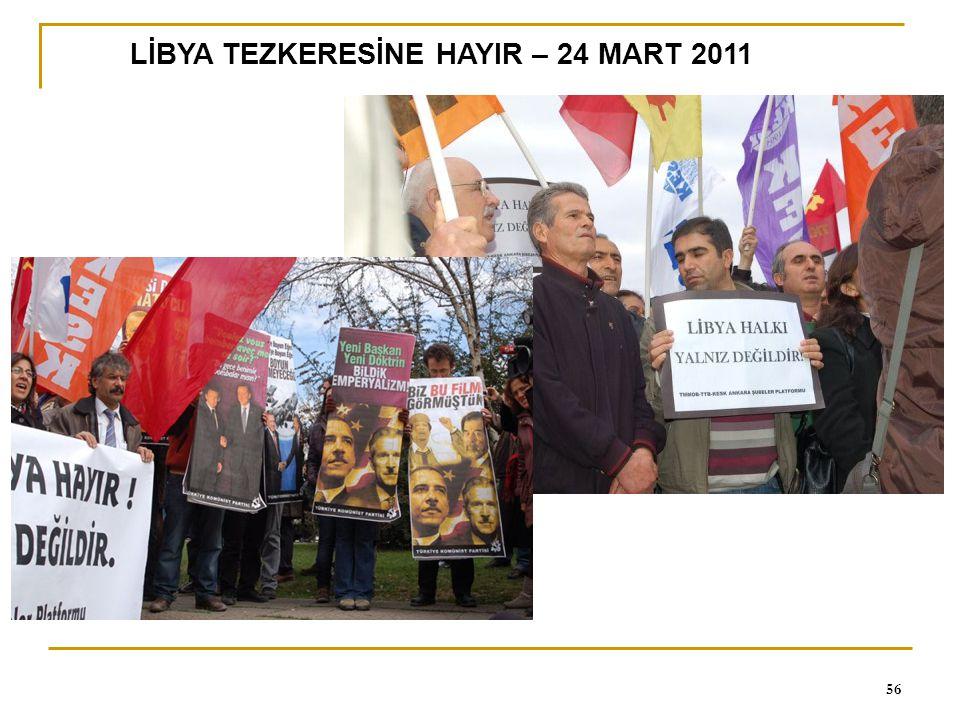 LİBYA TEZKERESİNE HAYIR – 24 MART 2011