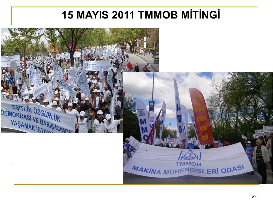 15 MAYIS 2011 TMMOB MİTİNGİ