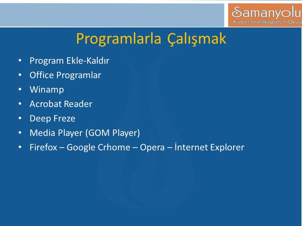 Programlarla Çalışmak