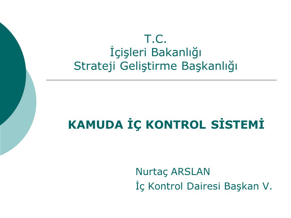 T.C. İçişleri Bakanlığı Strateji Geliştirme Başkanlığı