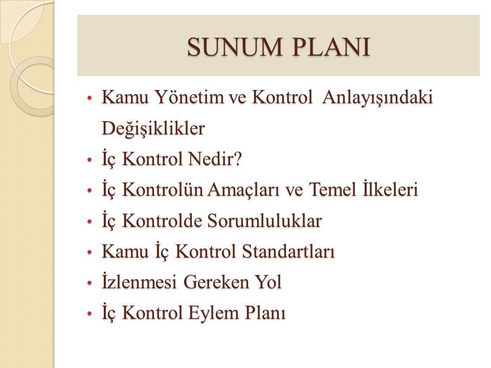 SUNUM PLANI Kamu Yönetim ve Kontrol Anlayışındaki Değişiklikler