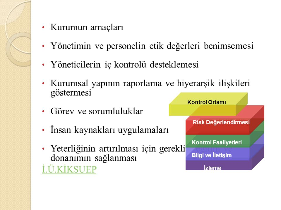 Yönetimin ve personelin etik değerleri benimsemesi