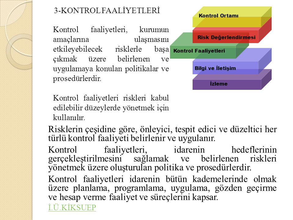 3-KONTROL FAALİYETLERİ