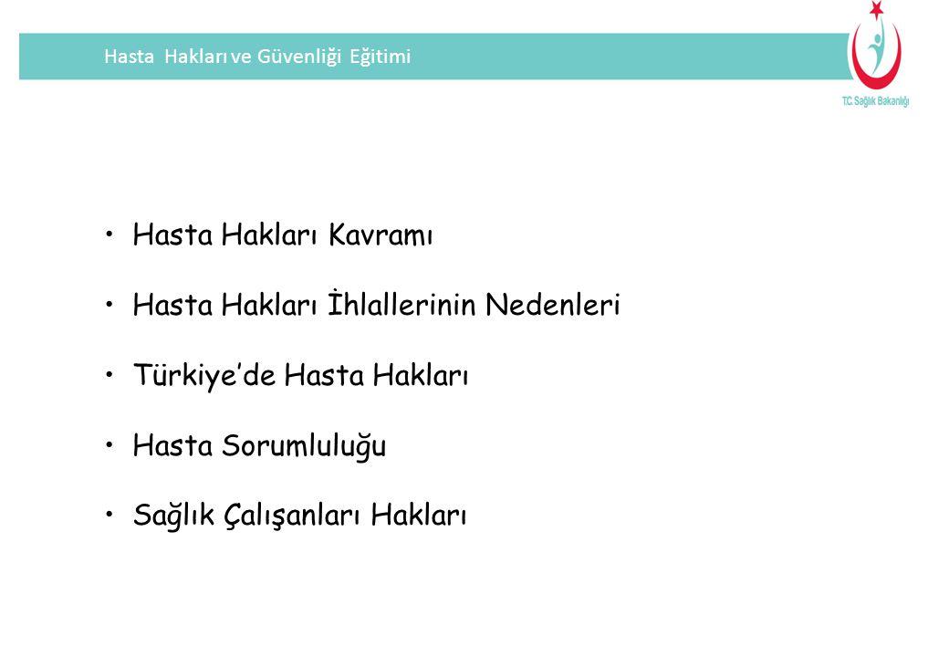 Hasta Hakları İhlallerinin Nedenleri Türkiye'de Hasta Hakları