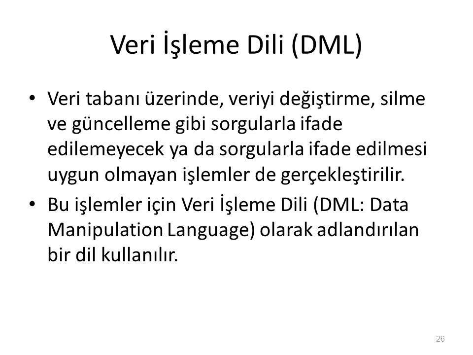 Veri İşleme Dili (DML)